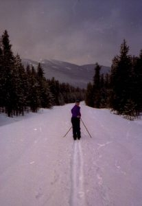 Skiing along Camas Creek Rd, 2001