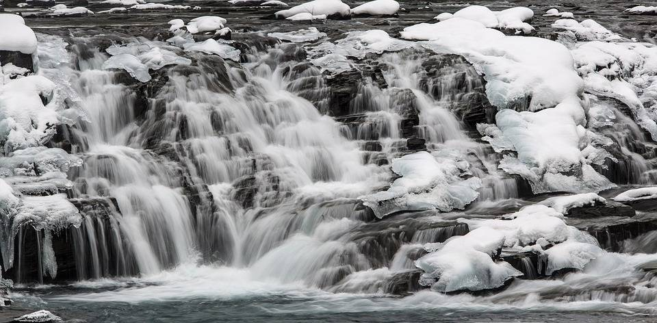 Waterfall Sacred Dancing Cascades Snow Winter Ice