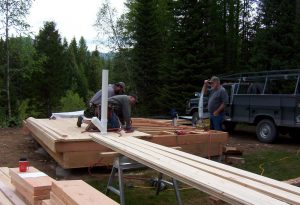 Laying the 2x6 Pine Floor