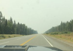 Smoky Skies near Prince George, BC
