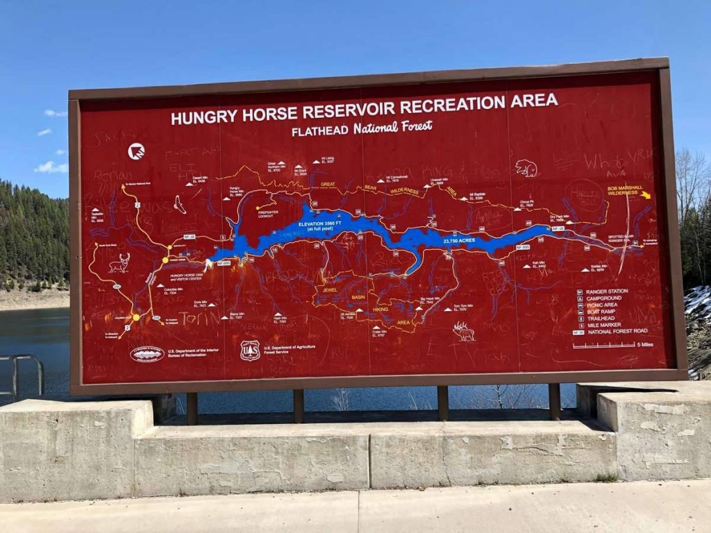 Hungry-Horse-Reservoir-map
